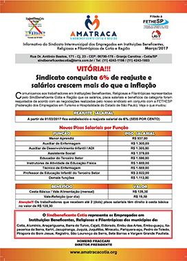 Sindbeneficente Cotia - Convenção Coletiva 2017