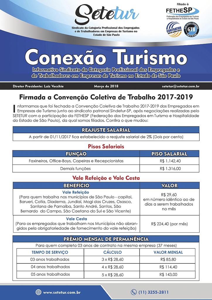 SETETUR - Convenção Coletiva 2018 - Turismo