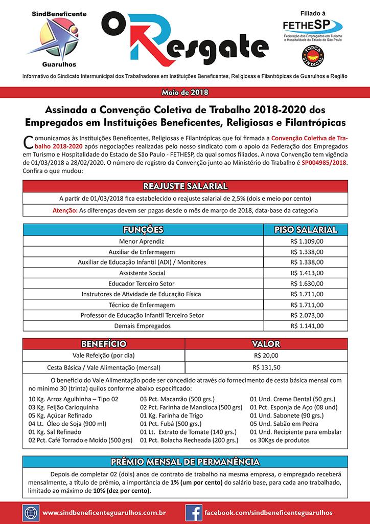 Sindbeneficente Guarulhos - Convenção Coletiva 2018