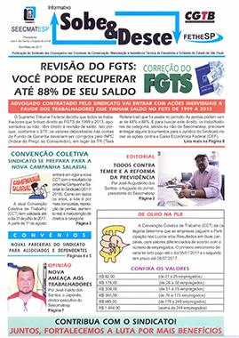 SEECMATESP - Informativo Sobe & Desce - Abril e maio de 2017