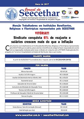 SEECETHAR - Convenção Coletiva 2017 - Instituições Beneficentes