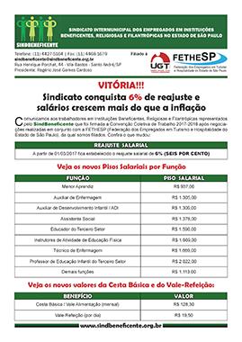 SindBeneficente - Convenção Coletiva 2017 - Estado de SP