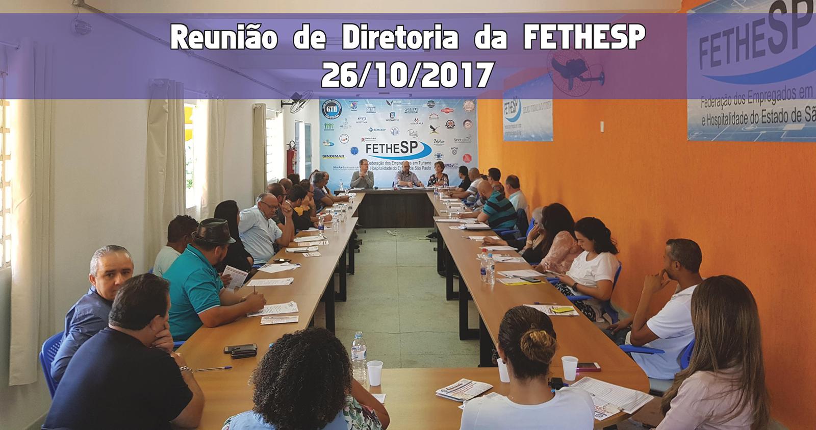 Reunião de Diretoria da FETHESP - 26/10/2017