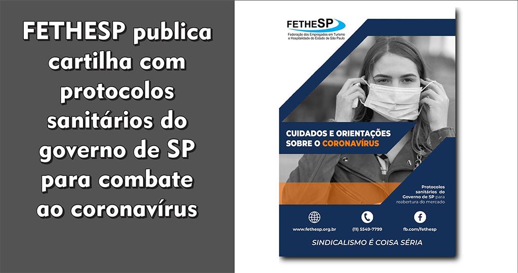 FETHESP publica cartilha com protocolos sanitários do governo de SP para combate ao coronavírus