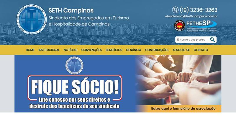 Filiado à FETHESP, SETH Campinas lança seu novo site