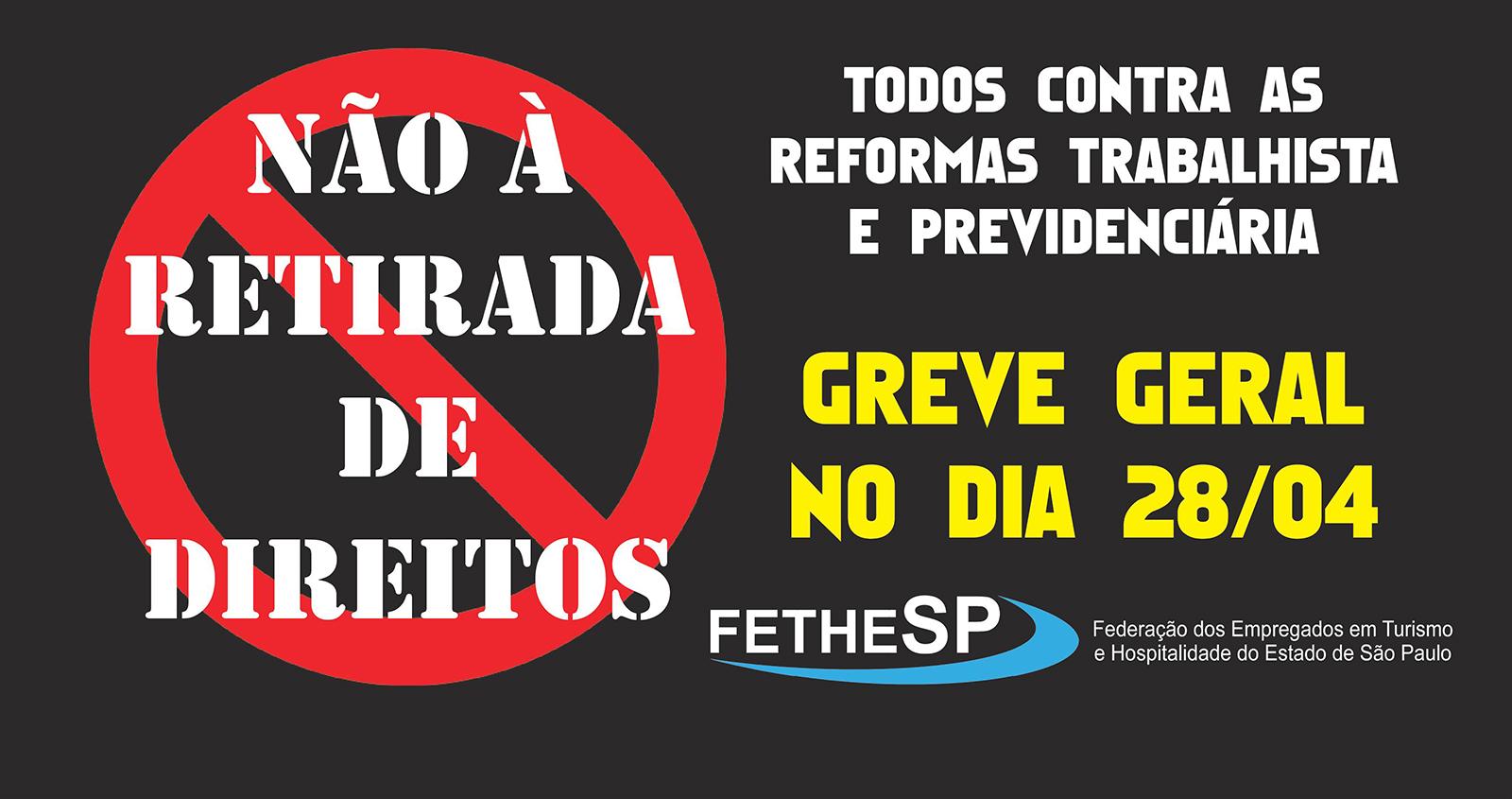 Manifesto contra as reformas trabalhista e previdenciária