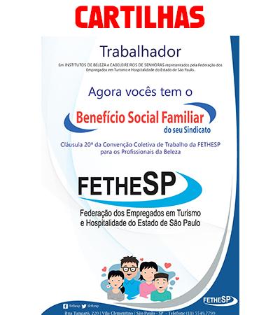 Cartilha Benefício Social Familiar para empregados em Salões de Beleza