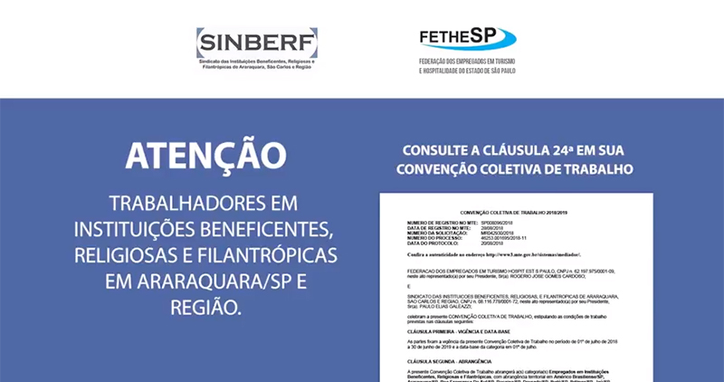 Benefício Social Familiar para empregados em instituições beneficentes de Araraquara e Região
