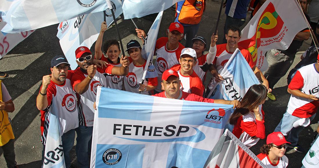 FETHESP e UGT-SP na manifestação de 30/06/2017 contra a reforma trabalhista
